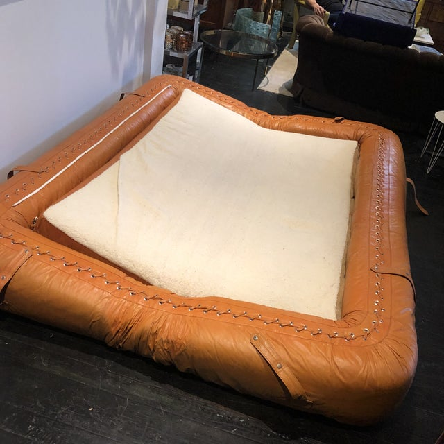 Leather Anfibio Sofa by Alessandro Becchi for Giovannetti 1970s For Sale - Image 7 of 13