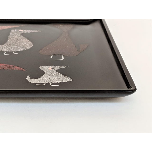 """Couroc of Monterey """"Mod Birds"""" Serving Tray For Sale - Image 9 of 11"""