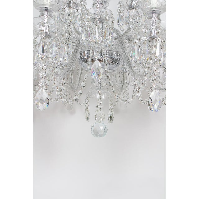 Traditional Early 21st Century Preciosa Czech Crystal Chandelier - Showroom Sample For Sale - Image 3 of 7