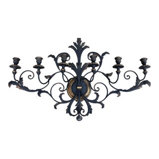 Italianate Tole and Wood Wall Sconce For Sale
