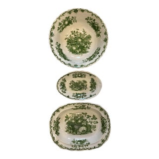 Mason's 'Fruit Basket' Transferware Dishes - Set of 3