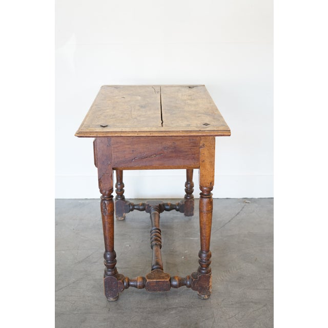 French Antique French Louis XIII Side Table For Sale - Image 3 of 9