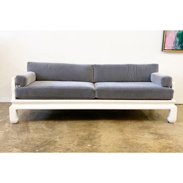Paint Michael Taylor for Baker Far East Style Sofa For Sale - Image 7 of 7