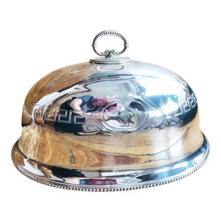 Late 19th Century Antique Georgian Silver Plated Platter For Sale