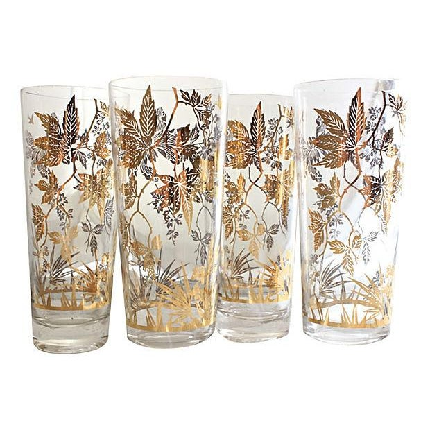 Autumn Leaf Etched Glasses - Set of 6 - Image 2 of 4