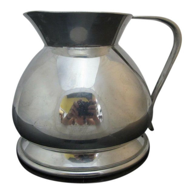 Modernist Brooks Brothers Silver Plate Water Pitcher W1814, England For Sale