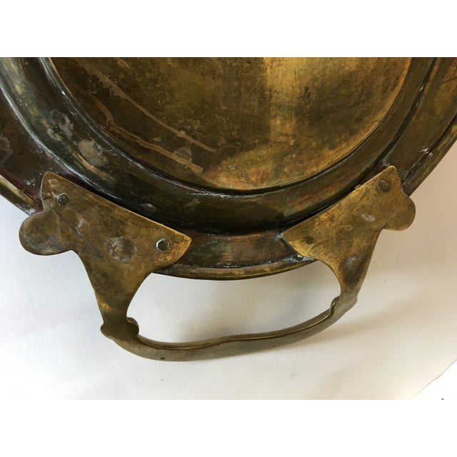 Vintage Chinese Brass Tray With Animal Etchings - Image 5 of 6