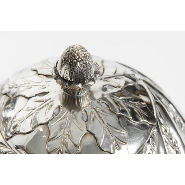 Mid 19th Century Sheffield Silver Plated Egg Shape Liquor Cave - 7 Pc. Set For Sale - Image 5 of 13