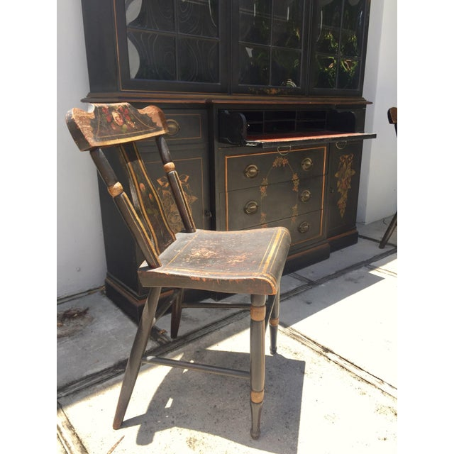 19th Century Hitchcock Style Painted Chairs - a Pair For Sale - Image 9 of 9