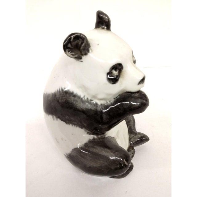 Antique Porcelain Panda Bear For Sale - Image 4 of 7