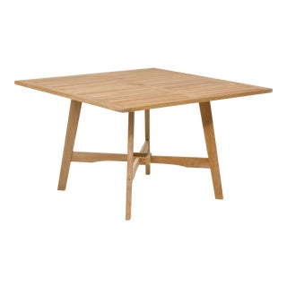 Wooden Outdoor Dining Table, Natural Shorea For Sale