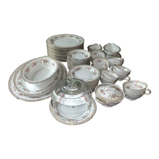 Somerset Noritake China Dinnerware - 58 Pieces. Service for 12 For Sale