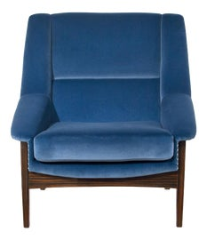 Image of Navy Blue Lounge Chairs