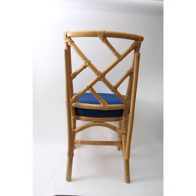 Vintage Chippendale Style Bamboo Side or Dining Chairs - a Set of 4 For Sale - Image 12 of 13