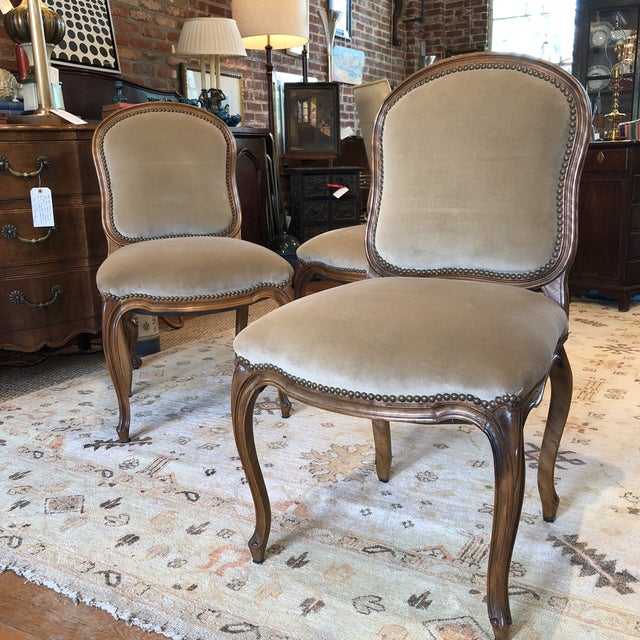 Louis XV Style Walnut Dining Chairs - Set of 4 - Image 2 of 9