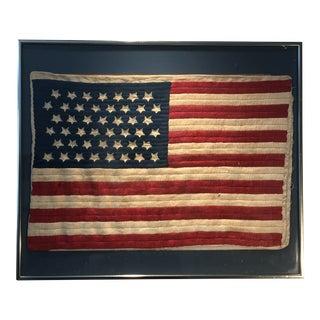 Antique Framed 45 Star American Flag For Sale