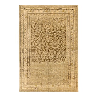 Persian Malayer Rug With Floral Patterns on Ivory Field For Sale