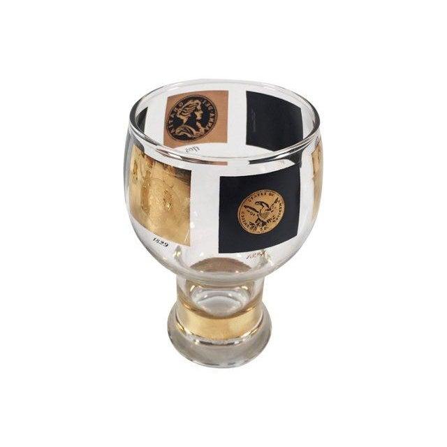 Black Fostoria Coin Glassware - Set of 8 For Sale - Image 8 of 8