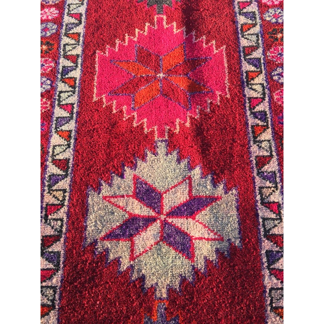 """Vintage Turkish Oushak Rug - 2'9""""x9'5"""" - Image 4 of 9"""