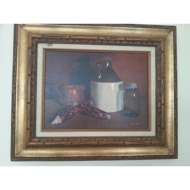 Original Vintage Still Life Painting - Image 2 of 8