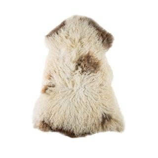 "Contemporary Handmade Wool Sheepskin Pelt - 2'1""x3'5"" For Sale"