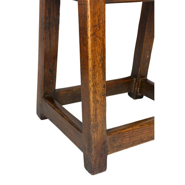 George II Oak Stool/Table For Sale - Image 4 of 8
