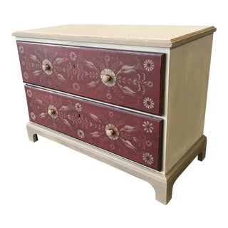 Vintage Swedish Painted Chest of Drawers For Sale
