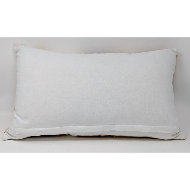 Textile Linen and Cowhide Rectangular Pillow For Sale - Image 7 of 8