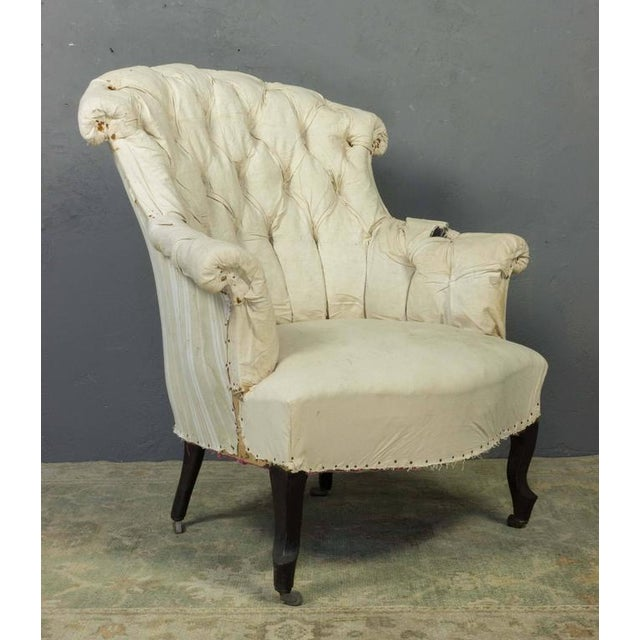Pair of French Armchairs in Muslin - Image 3 of 11