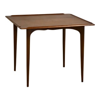 Walnut and Century Danish Dinette or Game Table For Sale