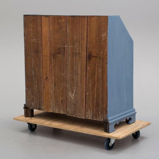 19th Century Swedish Blue Secretaire Desk For Sale In Greensboro - Image 6 of 10