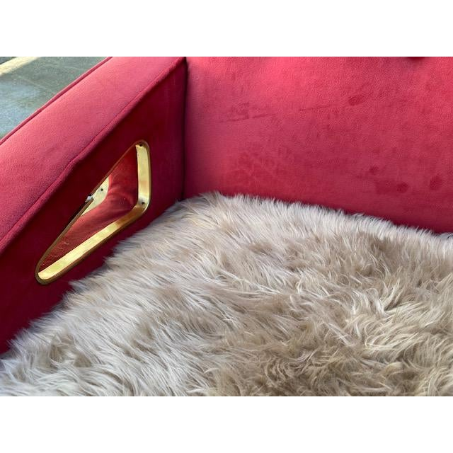 1950s Exuberant Maurice Mourra Mid-Century Sofa For Sale - Image 5 of 10