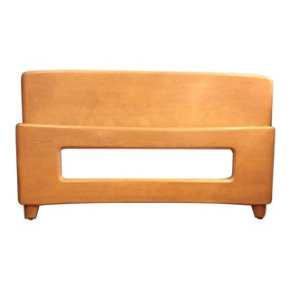 Mid Century Modern Heywood Wakefield Dog Bone Full Size Bed- Head & Footboard in Champagne For Sale