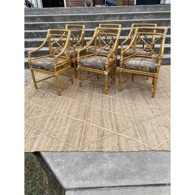 McGuire Bamboo Target Back Dining Chairs -Set/6 For Sale - Image 12 of 12