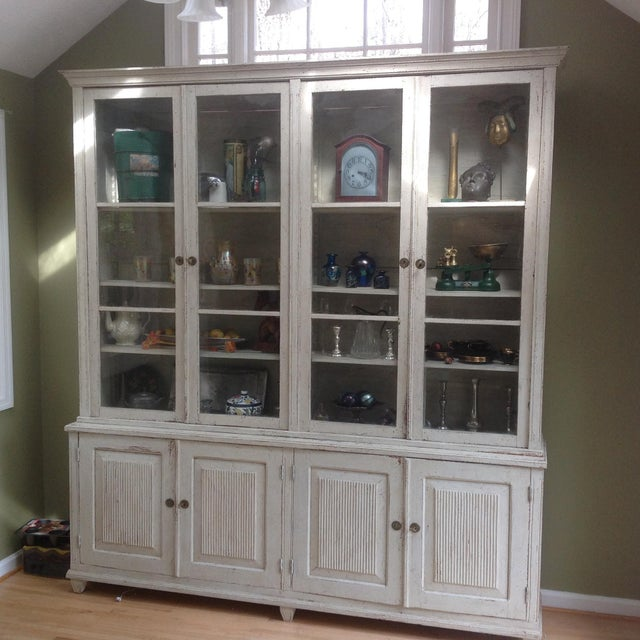 Gustavian Book Case Cabinet - Image 4 of 7