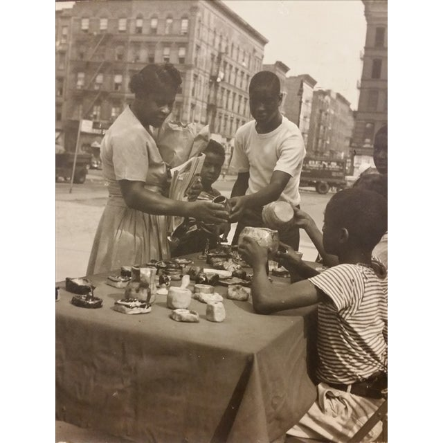 1950s Inner City Black & White Photo - Image 1 of 6