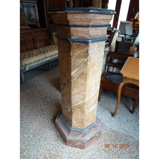 Wood 19th Century Italian Pedestal For Sale - Image 7 of 11