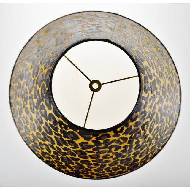 Late 20th Century Vintage Hand Painted Animal Print Lamp Shade For Sale - Image 5 of 13