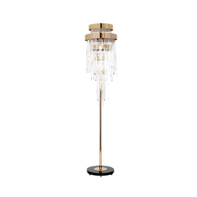 Product Description Although the inspiration of this floor light is still a myth, the elegance present in every crystal is...