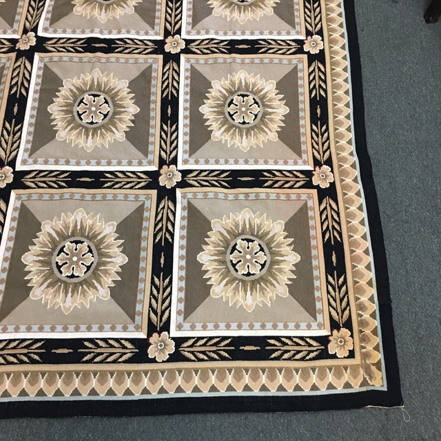 French Hand Woven Aubusson Needlepoint Area Rug - 5′5″ × 9′8″ - Image 3 of 11