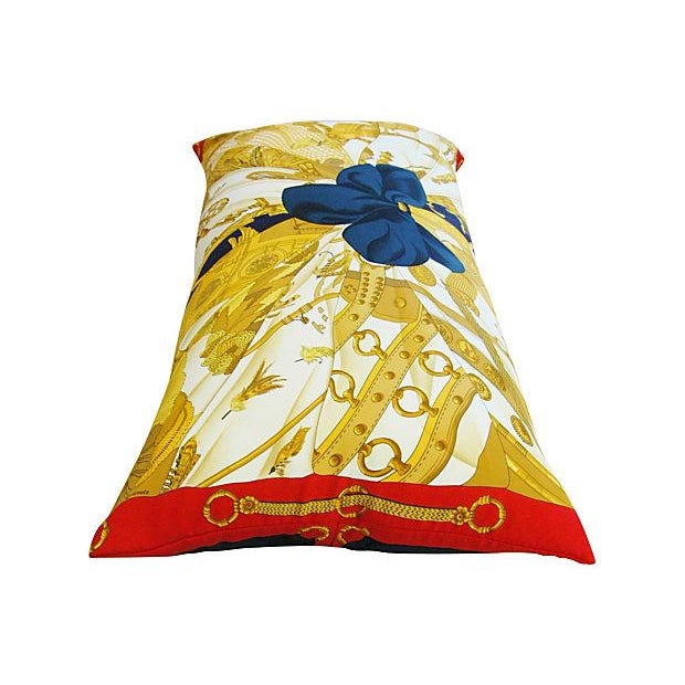 "Authintic Hermes ""Caty Latham"" Silk Pillow - Image 5 of 6"