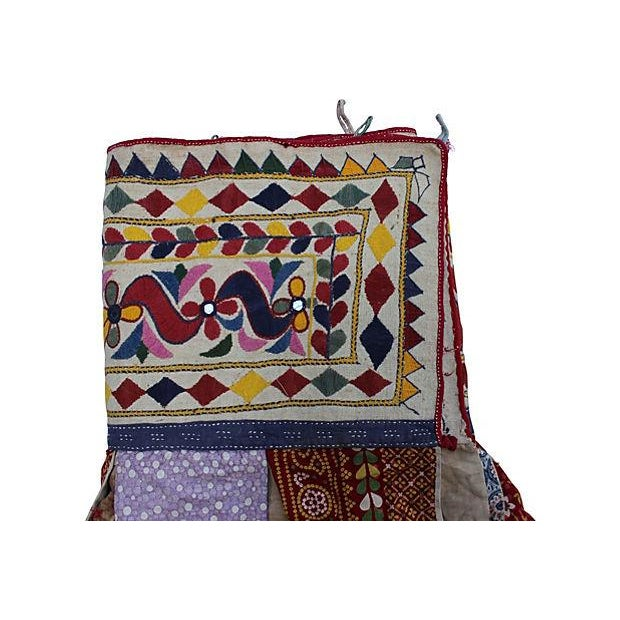 Boho Chic Embroidered Indian Tent Valance For Sale - Image 3 of 4