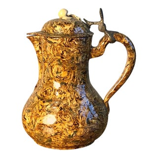 18th Century Apt Pitcher with Hinged Lid For Sale