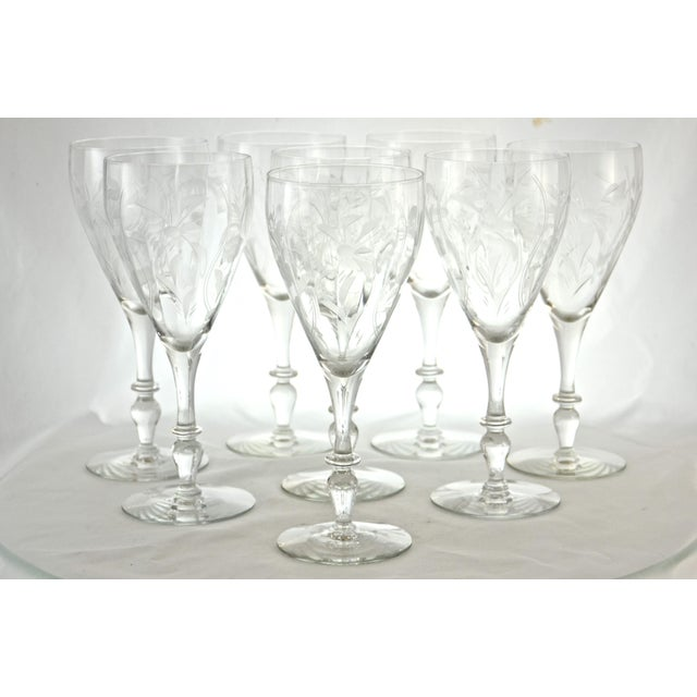 1960s Cut-Crystal Wine Glasses - Set of 8 - Image 5 of 5