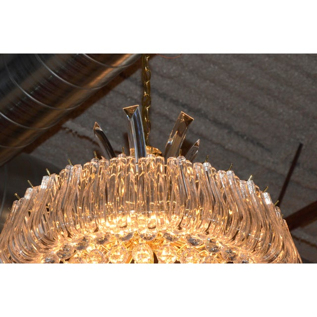 Mid Century Modern Triarch Lucite Chandelier - Image 7 of 9