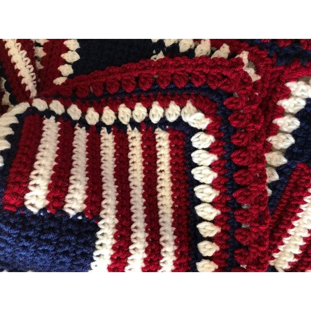 "American Flag Handmade Throw Blanket - 48"" x 64"" For Sale - Image 5 of 7"
