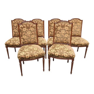 1980s Vintage Louis XVI Dining Chairs - Set of 6 For Sale