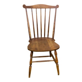 Vintage Rustic Cottage Country Brown Fiddleback Chair