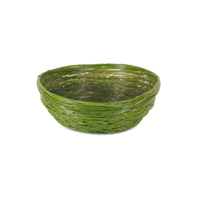 2000 - 2009 Gaetano Pesce Green Resin Spaghetti Bowl for Fish Design For Sale - Image 5 of 7