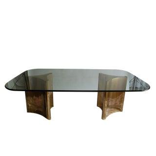 Mastercraft Brass Dining Table For Sale